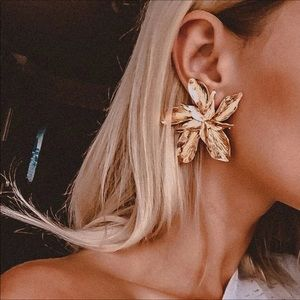 Women Elegance gold earrings